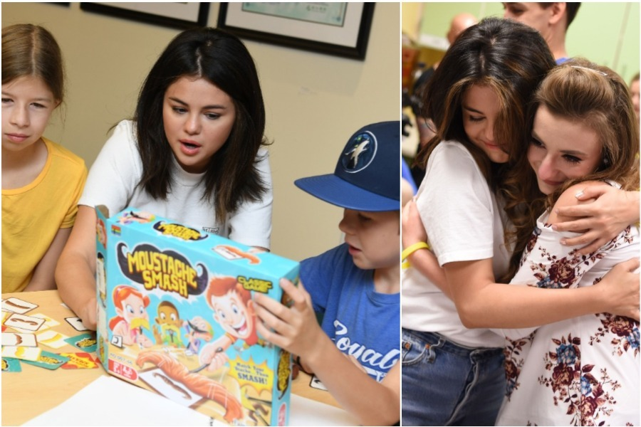 Selena Gomez visited the children of a hospital as a charity event