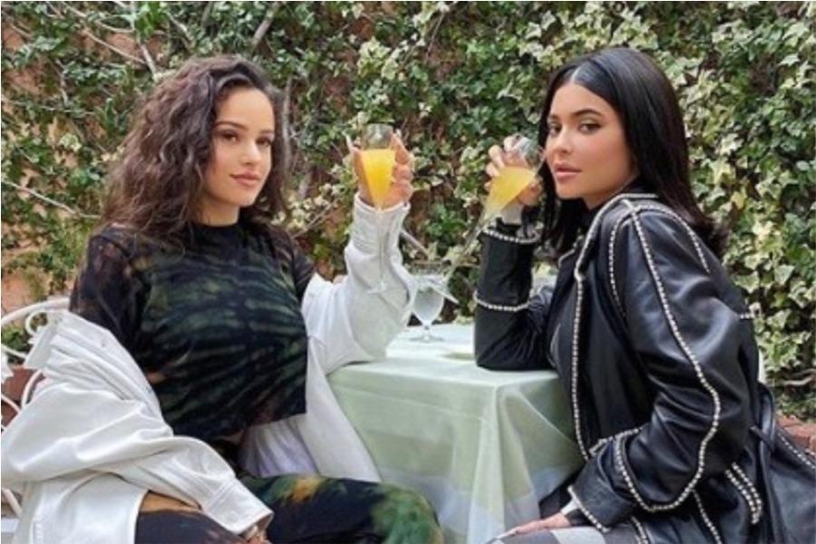 kylie jenner y rosalía