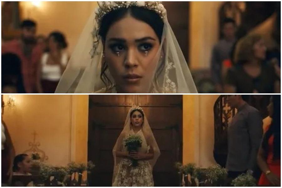 Danna Paola vestida de novia