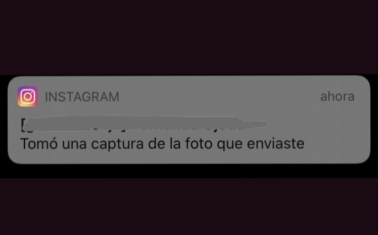 Instagram avisa captura pantalla