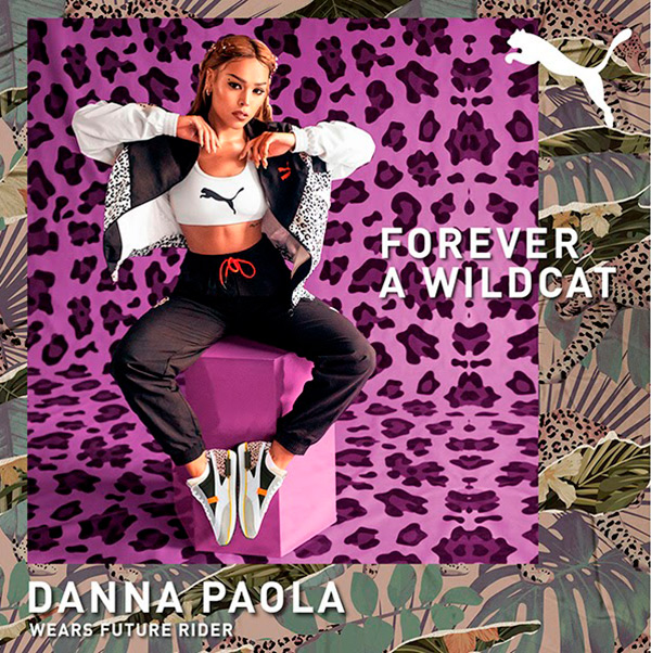Danna Paola animal print wildcats