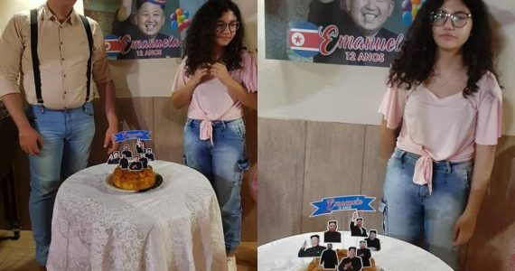 Fanática del K-pop recibe fiesta temática de Kim Jong Un