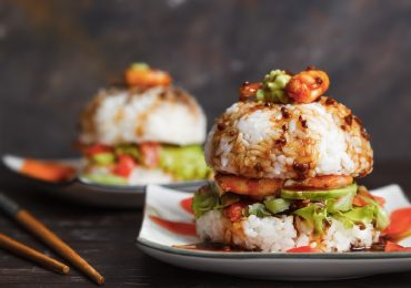 diy como hacer hamburguesa sushi
